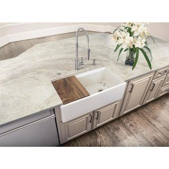 Superior Sinks Farmhouse Apron Front 33 In X 19 In White Single Bowl Workstation Kitchen Sink Lowes Com White Kitchen Farmhouse Sink Farmhouse Sink Kitchen Apron Front Kitchen Sink Kitchen sinks 33 x 19