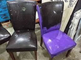 I Ve Discovered The Miracle That Is Vinyl Spray Paint At Least Two Coats Needed The First Coat Dries Hazy I Furniture Leather Couch Repair Redo Furniture
