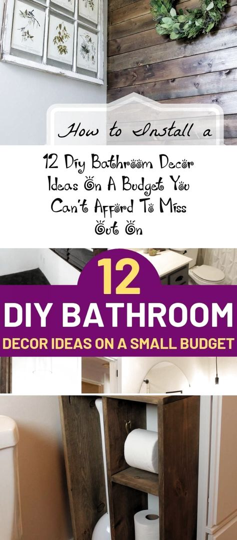 12 Diy Bathroom Decor Ideas On A Budget You Can't Afford To Miss Out On - Home Decor,  #Affor...#affor #afford #bathroom #budget #decor #diy #home #ideas