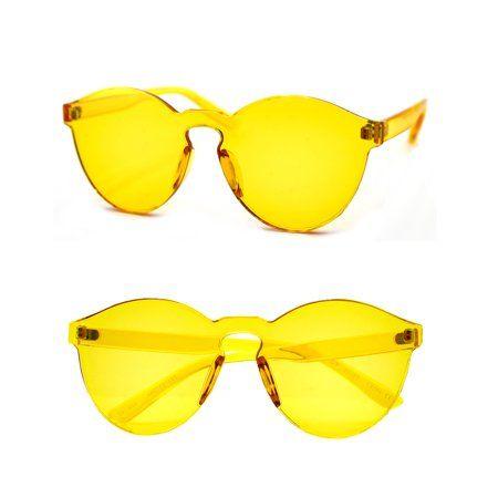 Pop Fashionwear One Piece Rimless Sunglasses P4162 Walmart Com In 2020 Unique Sunglasses Rimless Sunglasses Sunglasses