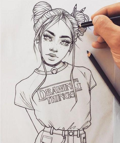▷ 1001 + idées pour réaliser un dessin swag - hommage à la fille swag