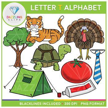 Alphabet Letter T Clip Art Beginning Sounds Lettering Alphabet Lettering Letter T