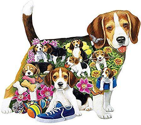 Amazon Com Bits And Pieces 750 Piece Shaped Puzzle Beagle