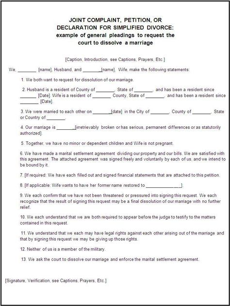 Certificate Of Divorce Template Printable - sample divorce agreement