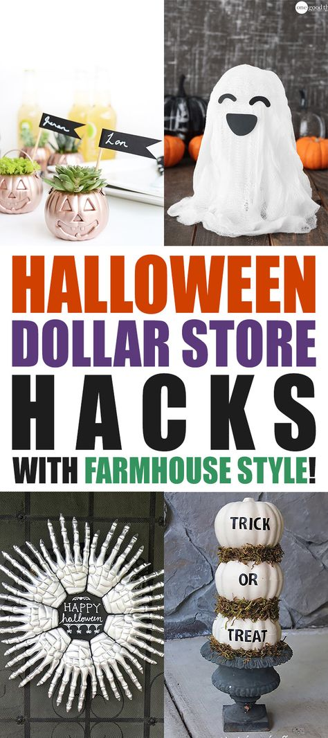 Halloween Dollar Store Hacks with Farmhouse Style - The Cottage Market