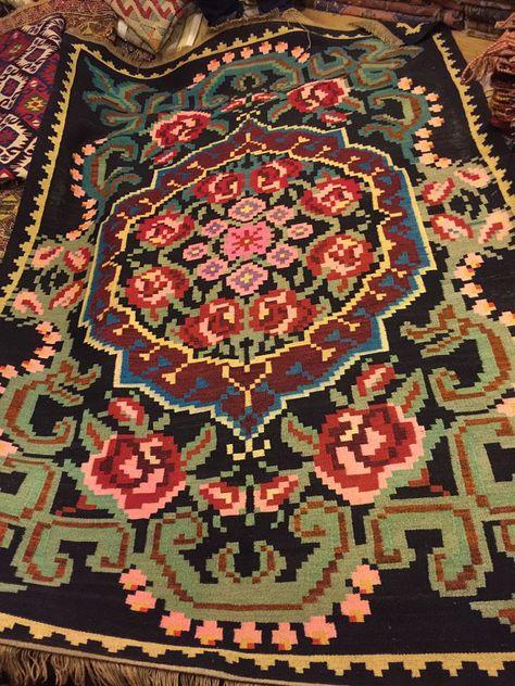 """flower pattern Kilim rug, 8'2"""" x 4'9"""",Vintage Turkish kilim floral, area rug, kilim rug, vintage rug, rug embroidered rug, Turkish rug, rugs"""
