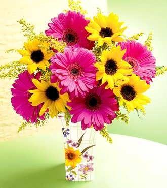 Sunflower & Gerber daisy floral arrangement....