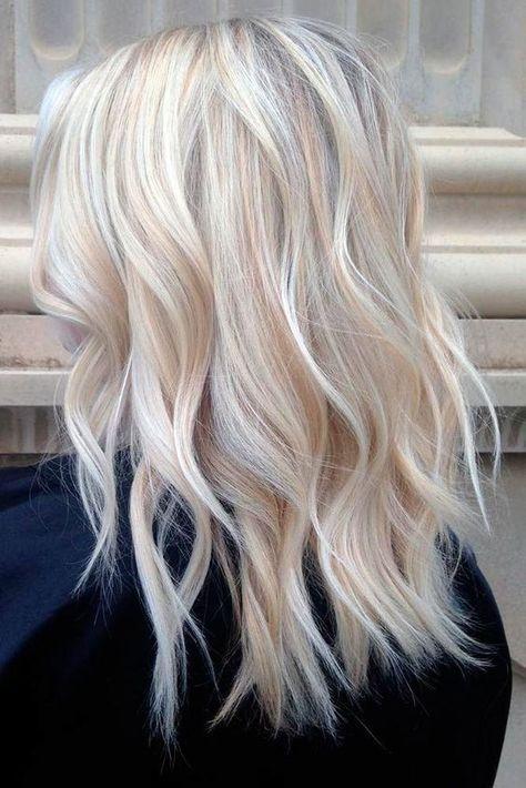 Blonde frisuren halblang