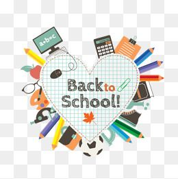Learning Stationery Vector Heart Shaped Back To School Education Png And Vector With Transparent Background For Free Download Back To School Education Stationery Free Graphic Design