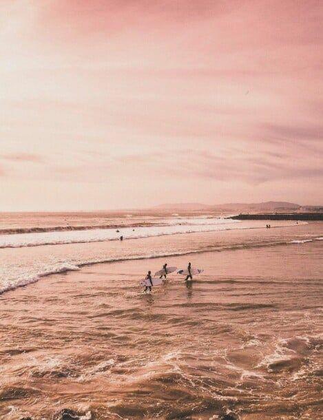 Beach Ocean E Rose Gold Imagem No We Heart It Rose Gold Aesthetic Rose Gold Pictures Rose Gold Wallpaper