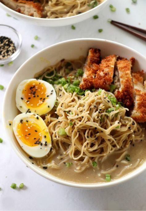 Easy Miso Ramen with Chicken Katsu Recipe | Dash of Savory