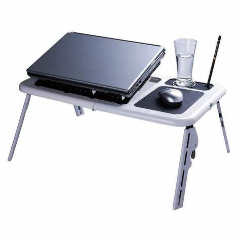 Tavoli Pieghevoli Per Stand.Tavolo Tavolino Supporto Base Per Pc Notebook Pieghevole Ventola