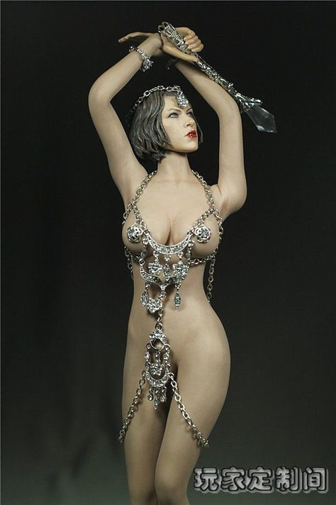 Custom 1//6 Cupid Goddess of Love Venus Suit Set For Phicen Female Big Bust Body