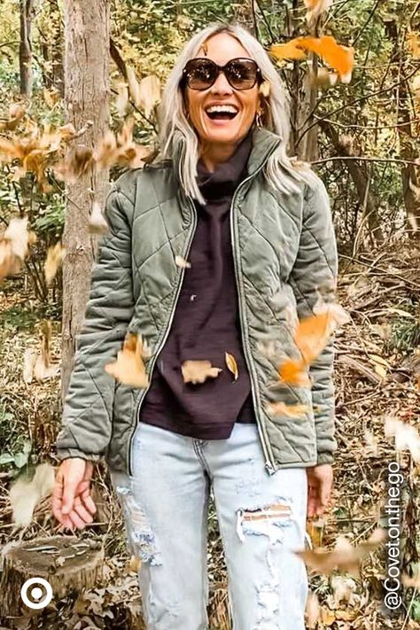 Check out fall  winter jackets in solid hues, patterned  quilted styles to put together a cold-weather outfit that's trendy  cute.