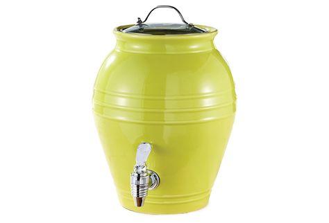 What better way to enjoy beverages outdoors this summer, than a honey pot dispenser?