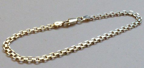 Unisex 925 Sterling Silver made in Italy chain link Bracelet