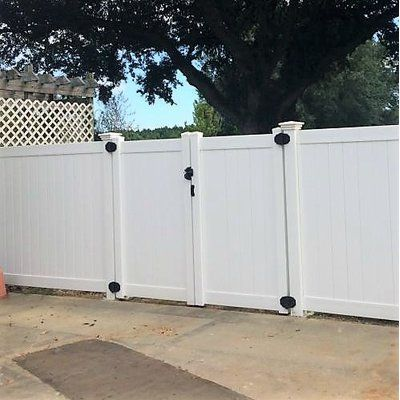 Vinylfencewholesaler 6 Ft H X 8 Ft W Rainier Privacy Fence Vinyl Gate Wayfair Vinyl Gates Vinyl Privacy Fence Front Yard Fence