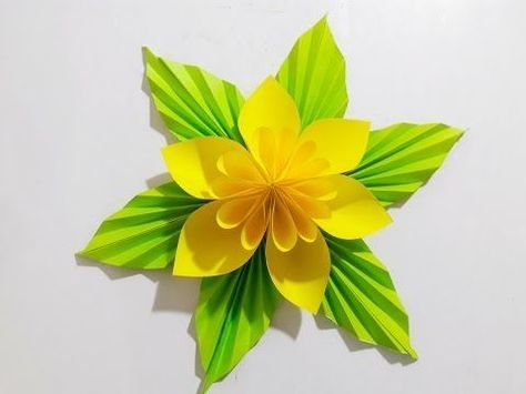 How To Make Origami Flower Lily/ Origami Tutorials for Kids ... | 355x474