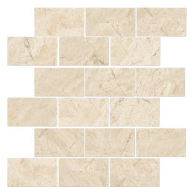 Queen Beige Polished Amalfi Marble Mosaic Tile 12 X 12 In Marble Mosaic Tiles Marble Tile Floor The Tile Shop