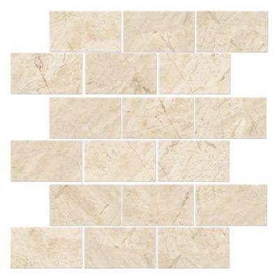 Queen Beige Polished Amalfi Marble Mosaic Tile 12 X 12 In Marble Mosaic Tiles Marble Tile Floor The Tile Shop
