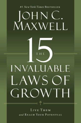 The 15 Invaluable Laws of Growth: Live Them and Reach Your Potential von John C. Maxwell http://www.amazon.de/dp/1599953676/ref=cm_sw_r_pi_dp_FSqNvb05RZWWB