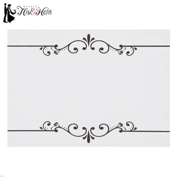 Black White Scroll Place Cards Hobby Lobby 553826 Hobby Lobby Wedding Invitations Elegant Cards Place Cards
