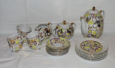 Lomonosov Porzellan Kaffeeservice Service gelb gold Garden Golddekor Blumen   eBay
