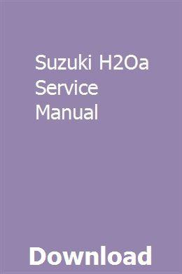 Suzuki H2Oa Service Manual | ossoledi | Repair manuals
