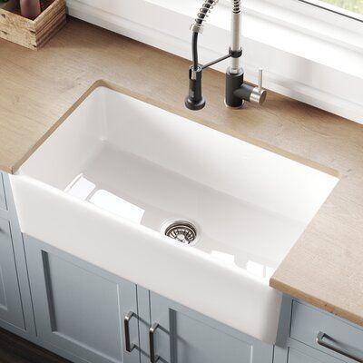 Kraus Turino Reversible 33 L X 18 W Farmhouse Kitchen Sink Farmhouse Sink Kitchen Single Bowl Kitchen Sink Sink