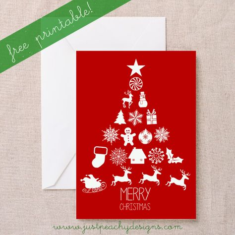 Just Peachy Designs: Free Printable Christmas Card