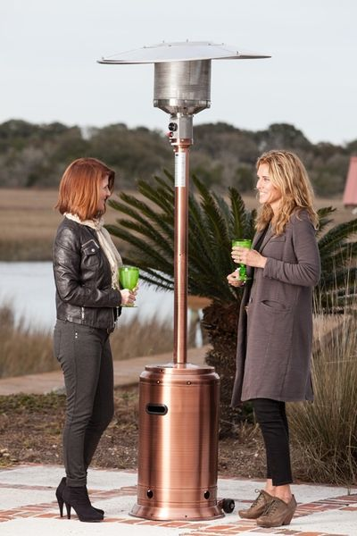 Fire Sense Commercial Copper Finish Propane Patio Heater With