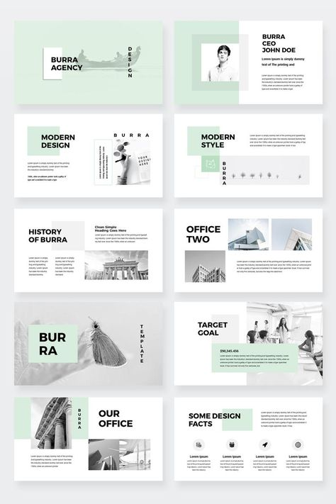 Burra - Clean Simple PowerPoint Presentation Template