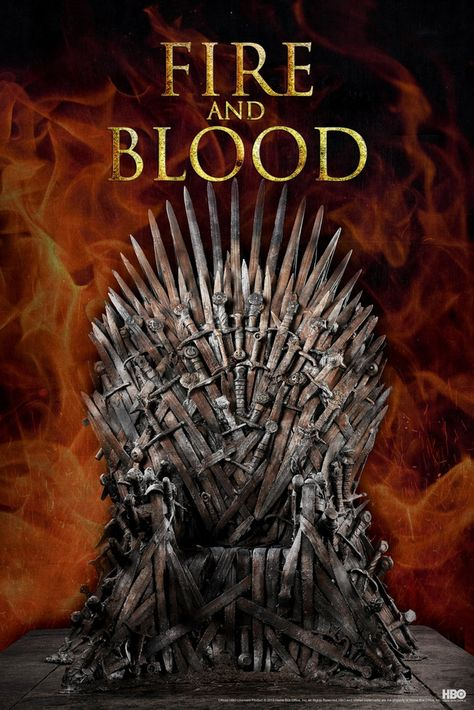 Game of Thrones Iron Throne Fire and Blood Season 9 Poster 12x18 Inch