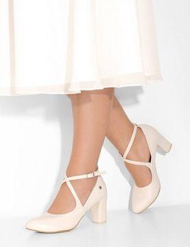 Polskie Czolenka Na Slub Z Paskami Bezowe 35 7914989842 Allegro Pl Shoes Character Shoes Sport Shoes