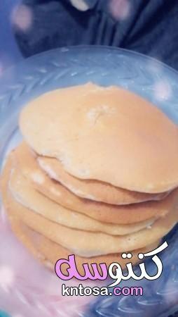 وصفة البان كيك الاصلية طريقة بان كيك سهل بان كيك لذيذ وهش طريقة البان كيك اللذيذ Food Hamburger Bun Bun