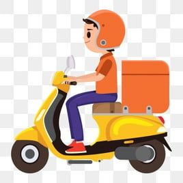 Man Delivery Service Flat Fast Boy Scooter Isolated Deliver Speed Transport Courier Illus Car And Motorcycle Design Graphic Design Background Templates Toy Car