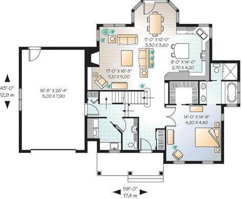 Plan 21349DR Solarium Dining Room Design