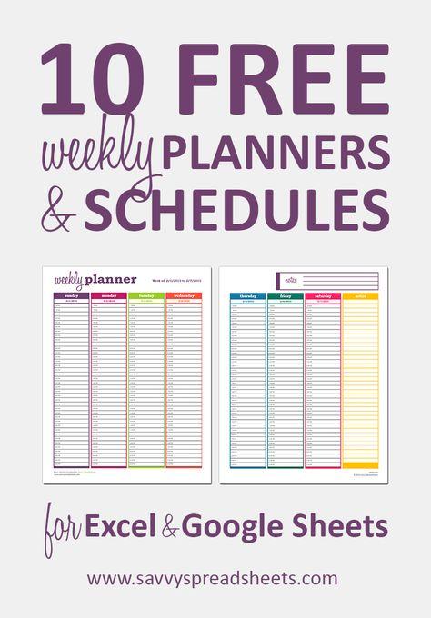 Les 25 meilleures idées de la catégorie Weekly schedule template - production schedule template