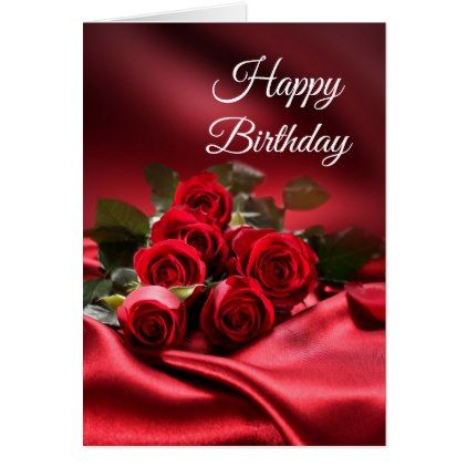 Birthday Card Red Roses Birthday Cards Invitations Party Diy