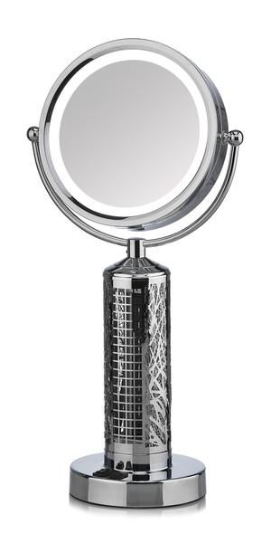 Fanity Led Illuminated Vanity Mirror And Elegant Tower Fan Combo Vanity Mirror Makeup Mirror With Lights Lighted Vanity Mirror