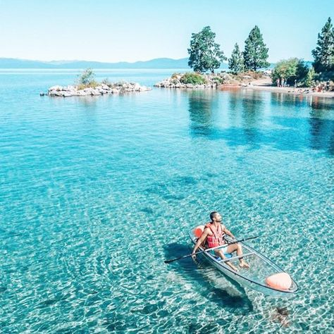 Kayak Adventures Clearly Tahoe is a kayak tour and rental company that uses completely transparent kayaks to explore the jaw-dropping waters of Lake Tahoe. The clear kayaks are the only way to truly appreciate just how beautiful the lake is. Vacation Places, Vacation Destinations, Dream Vacations, Vacation Spots, Las Vegas Vacation, Oh The Places You'll Go, Cool Places To Visit, Oregon, New Mexico