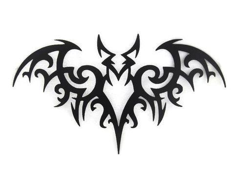 Tribal Bat Cnc Plasma Metal Wall Sculpture Bats Tattoo Design Vampire Tattoo Tribal Tattoos
