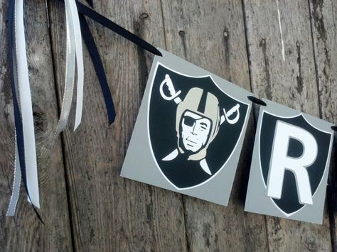 Oakland Raiders Football Banner by LBCrafty on Etsy, $25.00