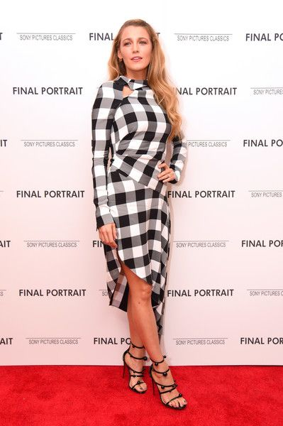 Actor Blake Lively attends the 'Final Portrait' New York Screening at Guggenheim Museum.