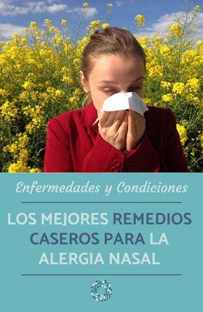 Remedios Caseros Para La Alergia Nasal 100 Efectivos Remedios Caseros Remedios Alergias