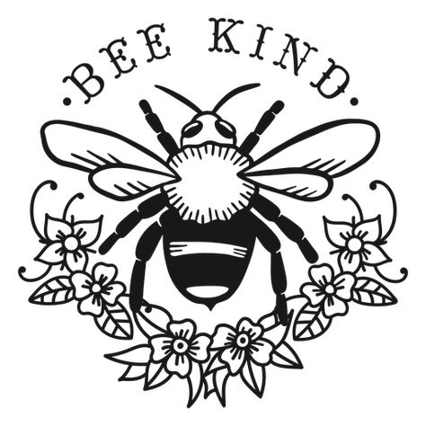 bee kind vinyl cutout decal heat on Mercari Free Font Design, Bee Design, Bee On Flower, Flower Svg, Flower Skull, Bee Clipart, Cricut Svg Files Free, Bee Gifts, Bee Art