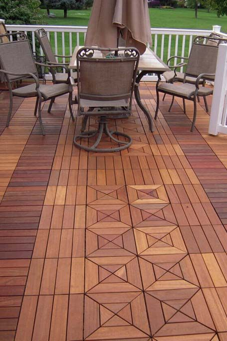 Crazy Decking Pattern Outdoor Flooring Outdoor Tiles Wood Deck