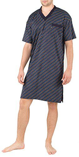 2ce741e5bf0a62 Jado Mens Pyjama Top Short Sleeves Patterns - blues, UK 18/20: Amazon.co.uk:  Clothing