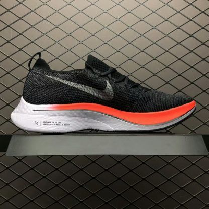Nike Zoom Vaporfly 4 Flyknit Black Red White Running Shoes White Running Shoes Running Shoes Nike Zoom