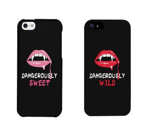 Dangerously Sweet And Wild Lips Cute BFF Matching Phone Cases Gift Dangerously Sweet and Wild Phone Cases Matching iphone 4 5 6 / Galaxy / LG / HTC One Cases – brand new – Order includes 2 x cases – for two friends – Suitable for Apple iphon Bff Iphone Cases, Iphone 4, Bff Cases, Apple Iphone, Funny Phone Cases, Cute Cases, Iphone 8 Plus, Diy Phone Case, Coque Iphone